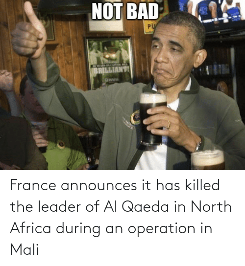 Killed: France announces it has killed the leader of Al Qaeda in North Africa during an operation in Mali