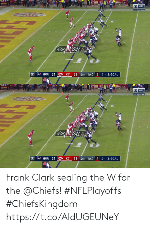 Chiefs: Frank Clark sealing the W for the @Chiefs! #NFLPlayoffs #ChiefsKingdom https://t.co/AIdUGEUNeY