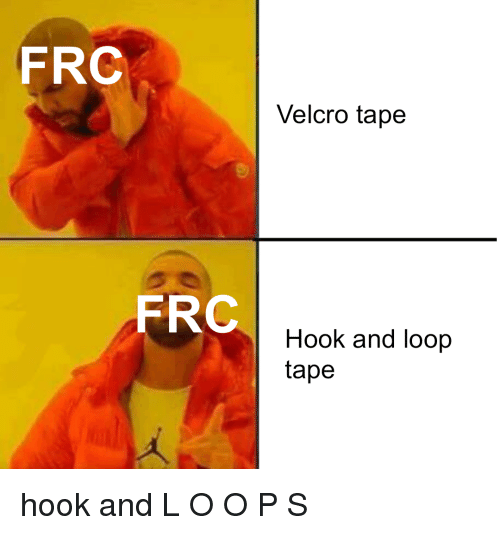 Hook, Velcro, and Frc: FRC  Velcro tape  FRC  Hook and loop  tape