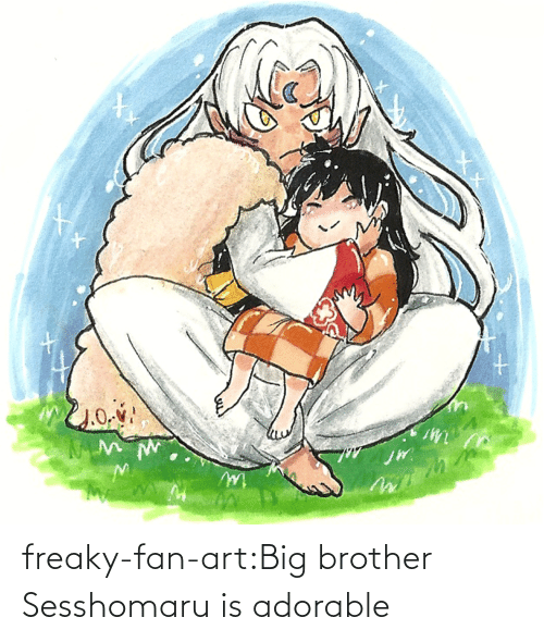 brother: freaky-fan-art:Big brother Sesshomaru is adorable