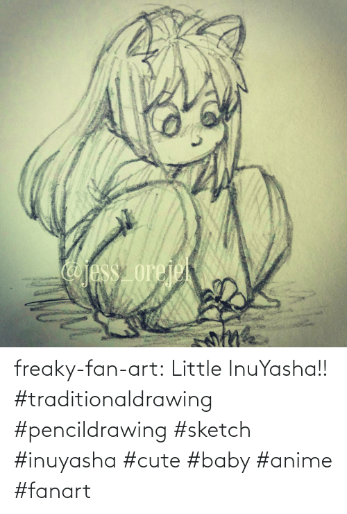 cute: freaky-fan-art: Little InuYasha!! #traditionaldrawing #pencildrawing #sketch #inuyasha #cute #baby #anime #fanart