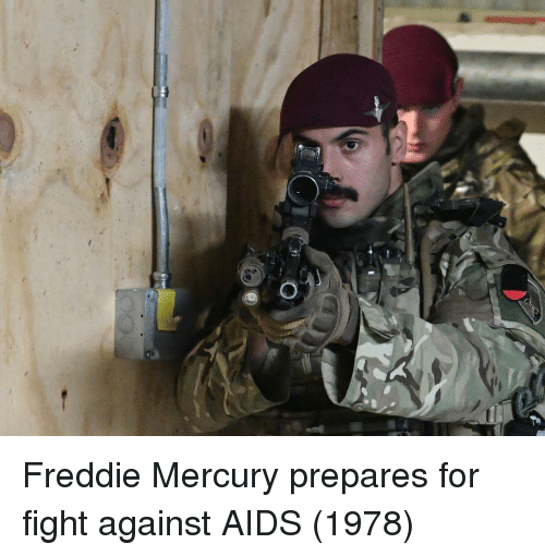 Mercury, Freddie Mercury, and Fight: Freddie Mercury prepares for fight against AIDS (1978)