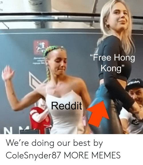 "Hong Kong: ""Free Hong  Kong""  LAM  Reddit  N N We're doing our best by ColeSnyder87 MORE MEMES"