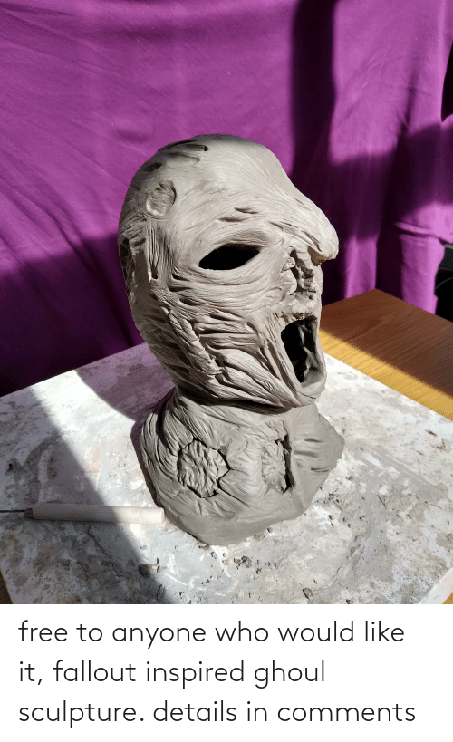 Sculpture: free to anyone who would like it, fallout inspired ghoul sculpture. details in comments