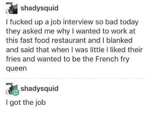 fry: French Fry Queen