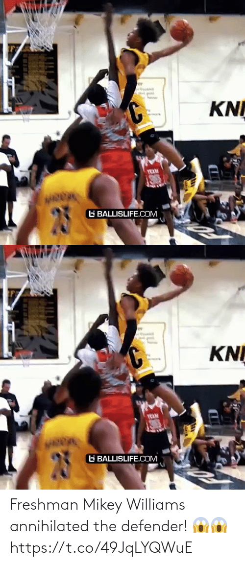 defender: Freshman Mikey Williams annihilated the defender! 😱😱 https://t.co/49JqLYQWuE