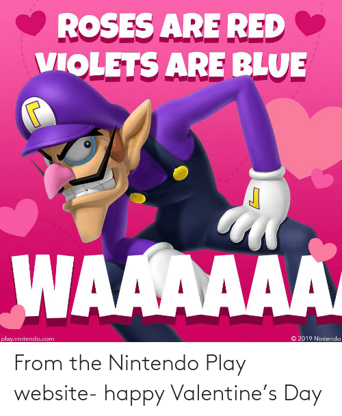 play: From the Nintendo Play website- happy Valentine's Day
