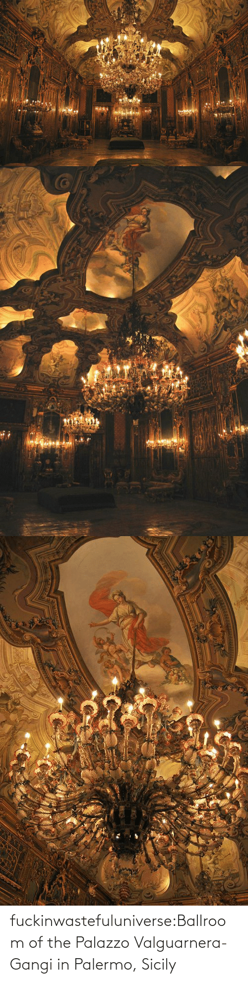 In Class: fuckinwastefuluniverse:Ballroom of the Palazzo Valguarnera-Gangi in Palermo, Sicily