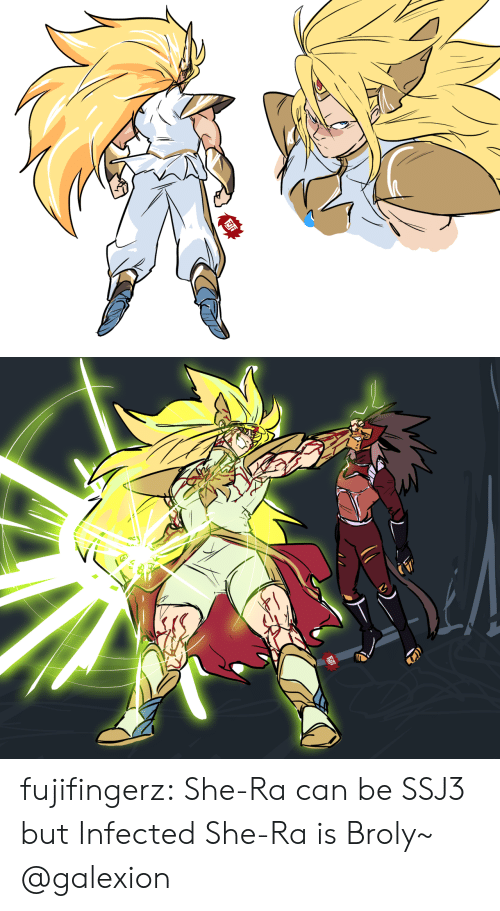 Broly, Tumblr, and Blog: fujifingerz:  She-Ra can be SSJ3 but Infected She-Ra is Broly~  @galexion