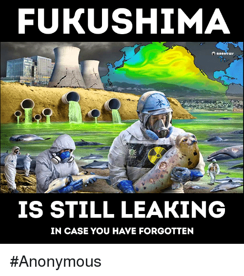 fukushima: FUKUSHIMA  anonews  IS STILL LEAKING  IN CASE YOU HAVE FORGOTTEN #Anonymous