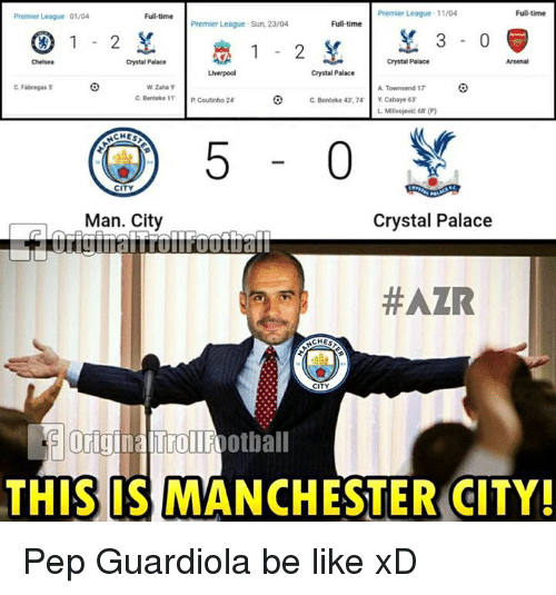 Be Like, Memes, and Premier League: Ful-time Premier League 11/