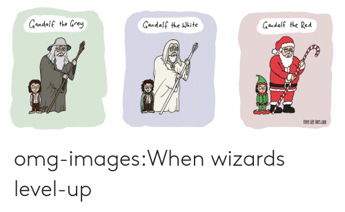 Redness: Gandalf the Grey  Gandalf the Wkite  Gandalf the Red  itle hie lincs.con omg-images:When wizards level-up