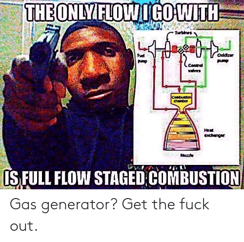Fuck Out: Gas generator? Get the fuck out.