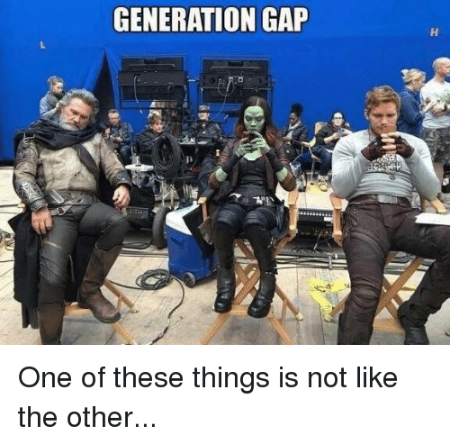 Memes, 🤖, and Gap: GENERATION GAP One of these things is not like the other...