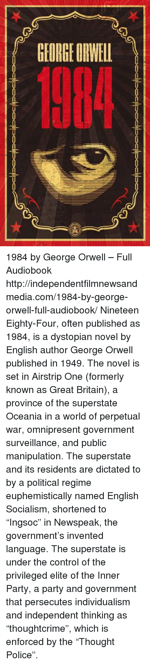 orwell dystopia essay Orwell's novel is a dystopia, a distinctly 20th-century extension and inversion of the long tradition of the utopia, the imagined eu-topos, or 'good place.