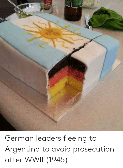 Argentina: German leaders fleeing to Argentina to avoid prosecution after WWII (1945)