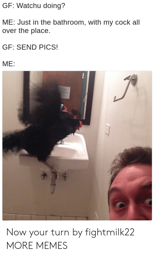 Dank, Memes, and Target: GF: Watchu doing?  ME: Just in the bathroom, with my cock all  over the place.  GF: SEND PICS!  ME: Now your turn by fightmilk22 MORE MEMES