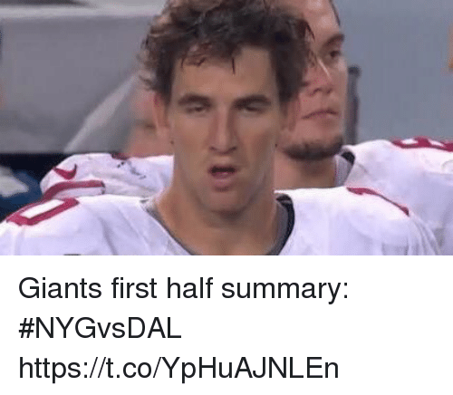 Sports, Giants, and First: Giants first half summary: #NYGvsDAL https://t.co/YpHuAJNLEn