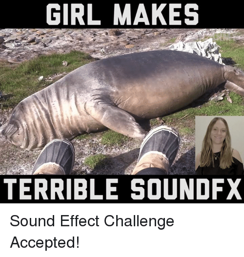 sound effect: GIRL MAKES  TERRIBLE SOUNDFX Sound Effect Challenge Accepted!