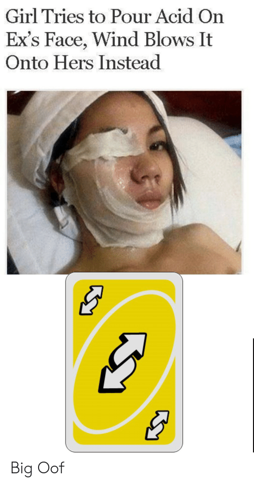Ex's: Girl Tries to Pour Acid On  Ex's Face, Wind Blows It  Onto Hers Instead Big Oof