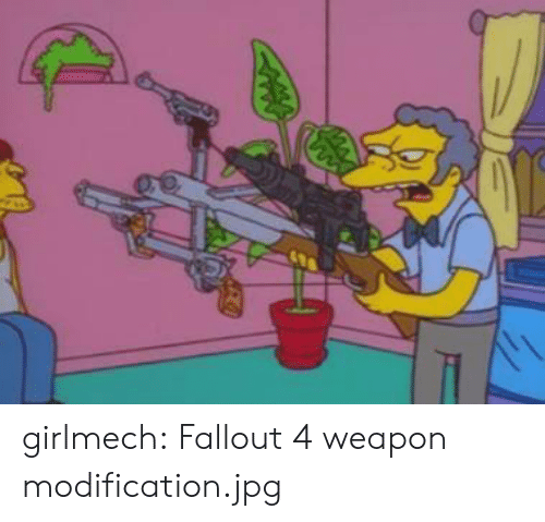 Fallout 4, Tumblr, and Blog: girlmech:  Fallout 4 weapon modification.jpg
