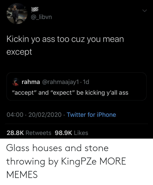 throwing: Glass houses and stone throwing by KingPZe MORE MEMES