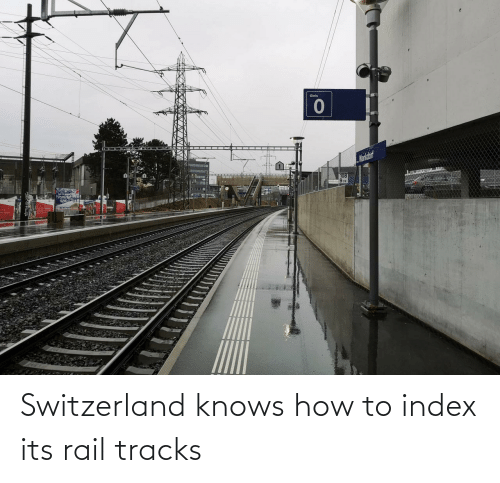 Knows: Gleis  Mankdorf  108  974 Switzerland knows how to index its rail tracks