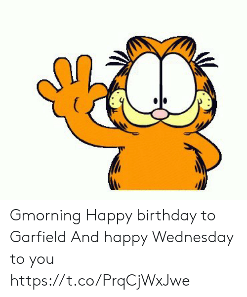 astrologymemes.com: ( Gmorning Happy birthday to Garfield And happy Wednesday to you https://t.co/PrqCjWxJwe