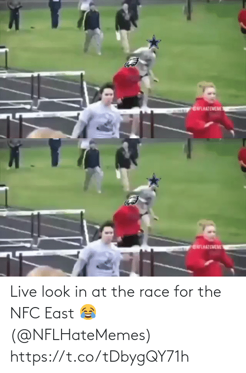Football, Nfl, and Sports: GNFLHATEMEME   ENFHATEMEME Live look in at the race for the NFC East 😂 (@NFLHateMemes) https://t.co/tDbygQY71h
