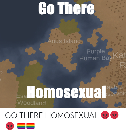 homosexual: GO THERE HOMOSEXUAL 😡😡😡 🏳️🌈🏳️🌈