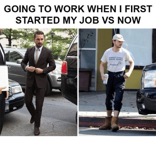 going to work: GOING TO WORK WHEN I FIRST  STARTED MY JOB VS NOW  NNSYLVANIA  SENIOR GAMES