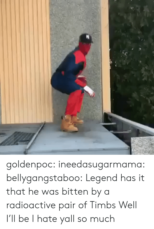 Tumblr, Blog, and Http: goldenpoc:  ineedasugarmama:   bellygangstaboo:     Legend has it that he was bitten by a radioactive pair of Timbs     Well I'll be   I hate yall so much