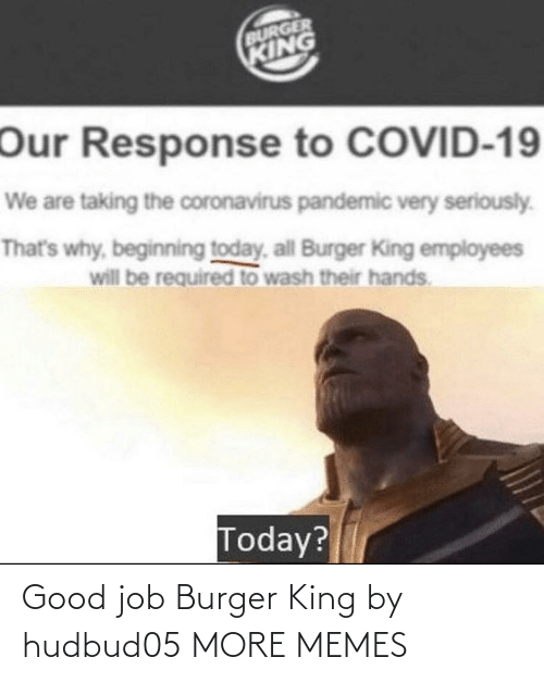 burger: Good job Burger King by hudbud05 MORE MEMES