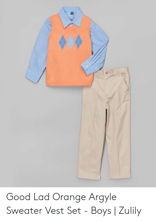 Orange Lad: Good Lad Orange Argyle Sweater Vest Set - Boys | Zulily