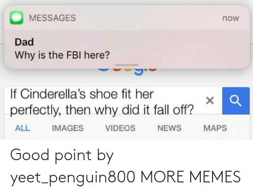 Yeet: Good point by yeet_penguin800 MORE MEMES