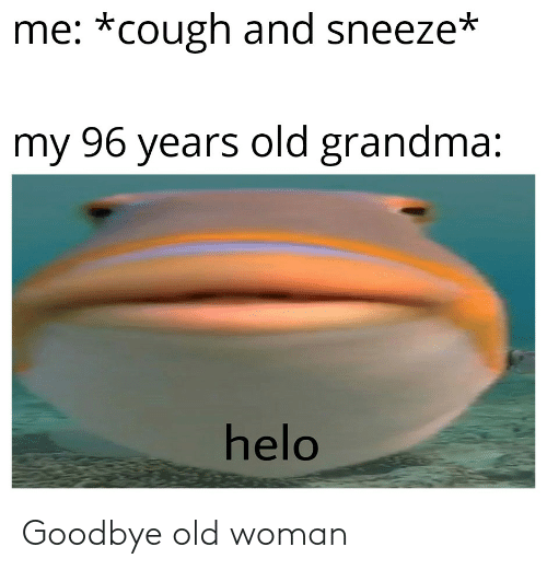 Old woman: Goodbye old woman