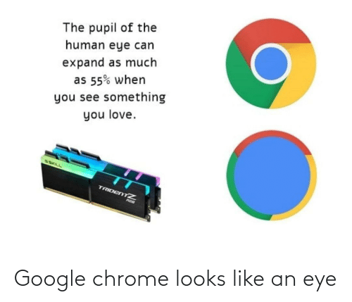 chrome: Google chrome looks like an eye