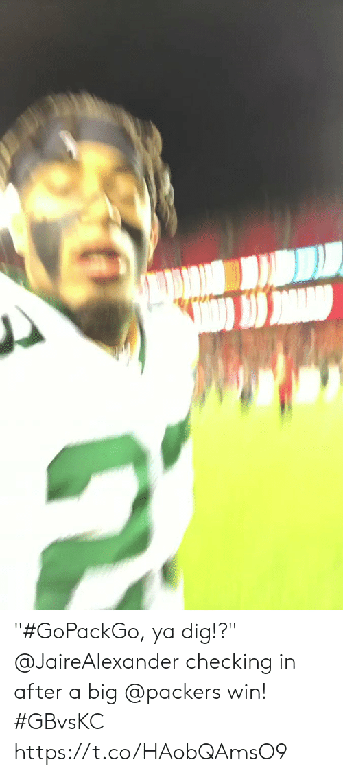 "Memes, Packers, and 🤖: ""#GoPackGo, ya dig!?""  @JaireAlexander checking in after a big @packers win! #GBvsKC https://t.co/HAobQAmsO9"