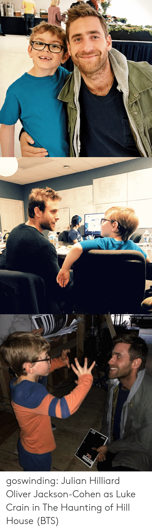 Tumblr, Blog, and House: goswinding:  Julian Hilliard  Oliver Jackson-Cohen  as Luke Crain in The Haunting of Hill House (BTS)