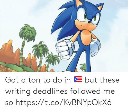 followed: Got a ton to do in 🇵🇷 but these writing deadlines followed me so https://t.co/KvBNYpOkX6