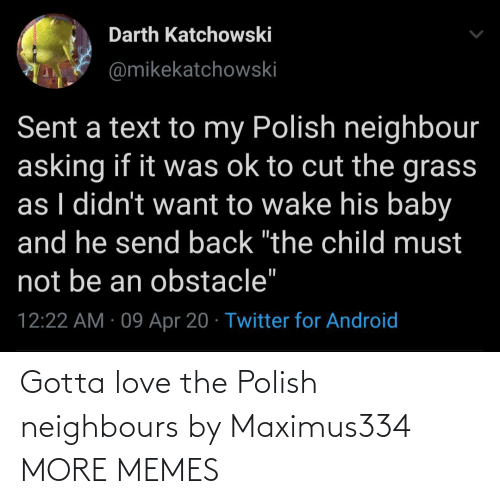 neighbours: Gotta love the Polish neighbours by Maximus334 MORE MEMES