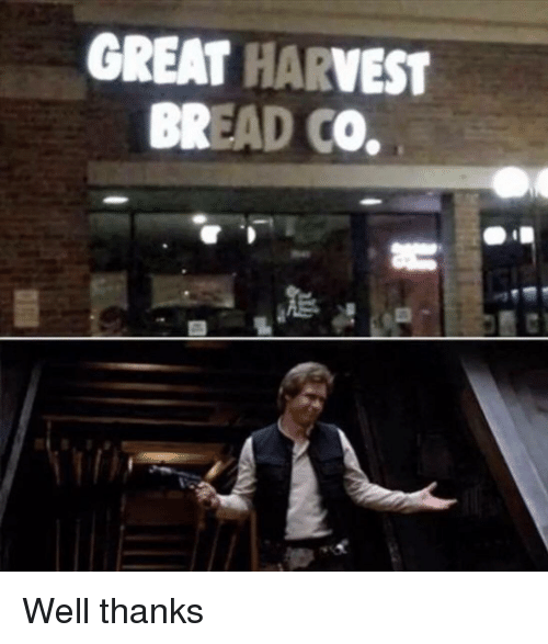 Well Thanks: GREAT HARVEST  BREAD CO. Well thanks