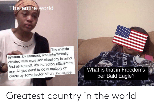 in the world: Greatest country in the world