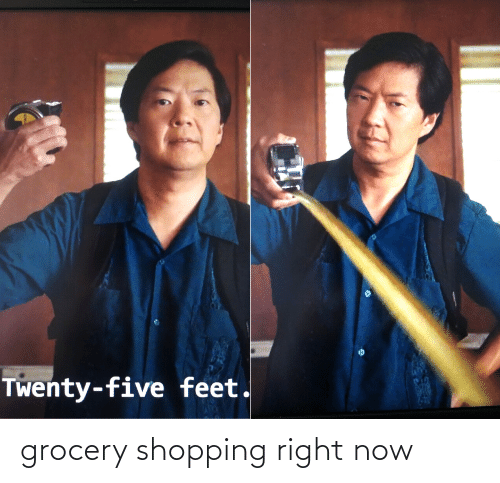 Shopping: grocery shopping right now
