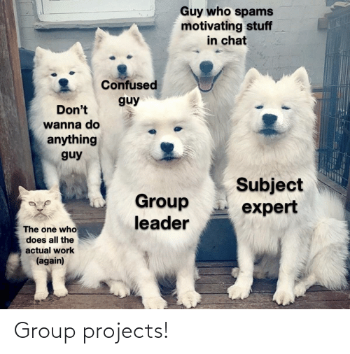 projects: Group projects!