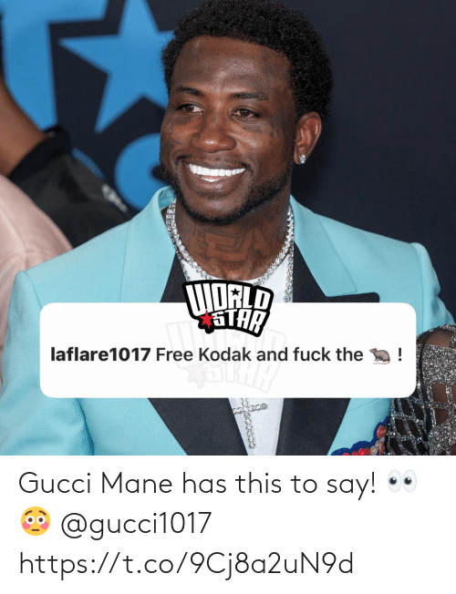 mane: Gucci Mane has this to say! 👀😳 @gucci1017 https://t.co/9Cj8a2uN9d