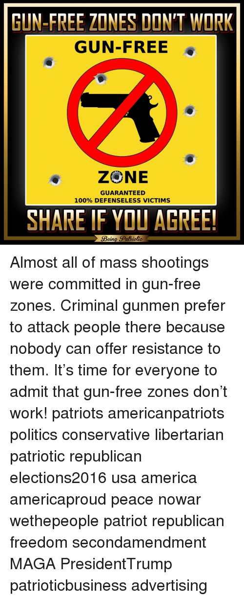 gun free zones invite terrorists to attack and crimes to be commited due to the inability of people  A cuckaschmuck gay boy free zone it conflates 'hate crimes' committed by solo big deal out of it when a terrorist does attack people in the us.