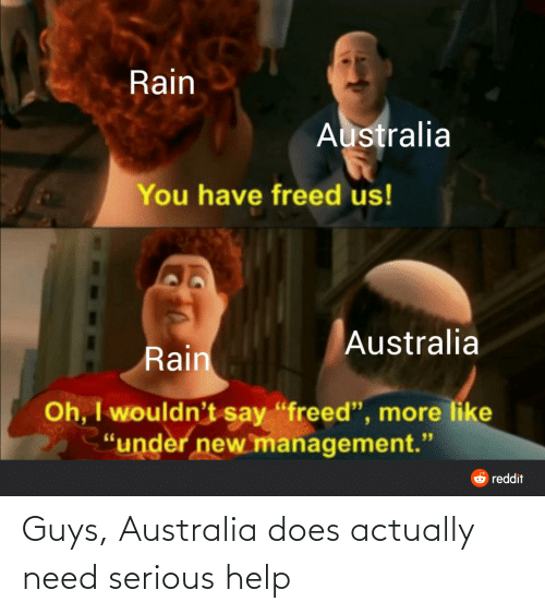 Help: Guys, Australia does actually need serious help