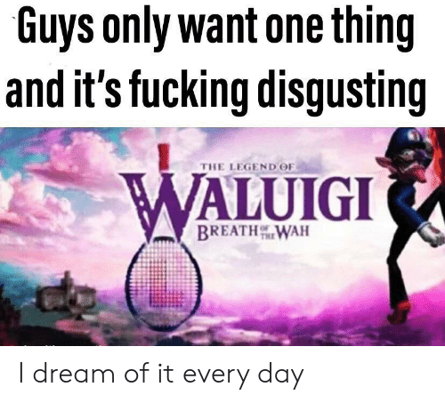 The Legend: Guys only want one thing  and it's fucking disgusting  THE LEGEND OF  WALUIGI  BREATHWAH I dream of it every day
