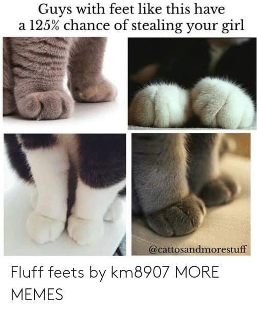 Stealing Your: Guys with feet like this have  a 125% chance of stealing your girl  @cattosandmorestuff Fluff feets by km8907 MORE MEMES